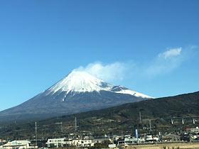 富士の霊峰(行き)